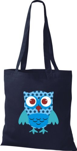 Shirtinstyle - Cotton Fabric Bag For Women Blue - Blue