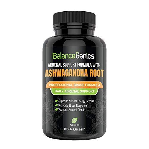 Adrenal Support, Stress Relief, Cortisol Manager - Best Adrenal Fatigue Supplements with Ashwagandha, Holy Basil, Suma Root, Licorice Root Offering Stress Response, Anxiety Relief, Adrenal Health