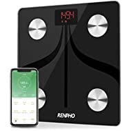Bluetooth Body Fat Scale by RENPHO, USB Rechargeable Smart Digital Bathroom Weight Scale with iOS & Android Smartphone App Wireless BMI Scale Body Composition Analyzer, 396 lbs