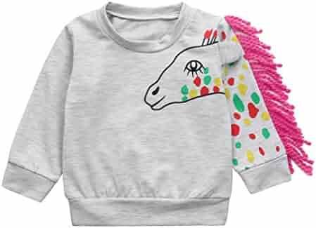 828cb2fd3168 Fineser TM Toddler Baby Boys Girls Animal Cartoon Tassel Super Soft T-Shirt  Tops Sweatshirt