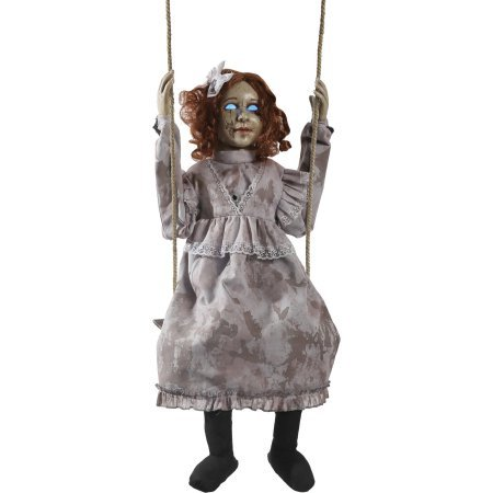 [Halloween Decoration Swinging Decrepit Doll Animated] (Halloween Costumes Scary Doll)