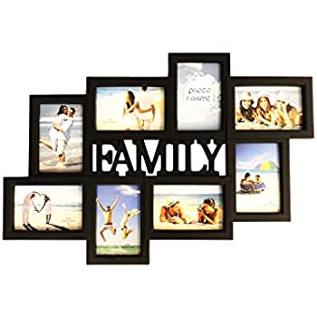 BestBuy Frames Family Title Collage Picture Frame with 8 Openings for 4-Inch-by-6-Inch Photos