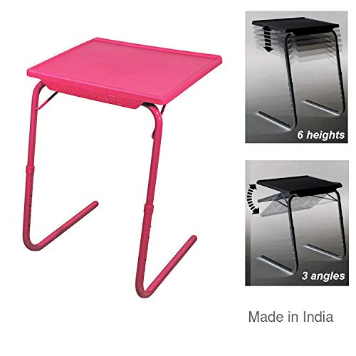 WoW MATE Hot Pink: Multi Purpose Laptop Table 6 Heights 3 Angles Adjustable…