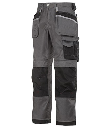 Snickers Men's Duratwill Craftsmen Workwear Trousers Muted Black/Black 36 Waist   32 Length