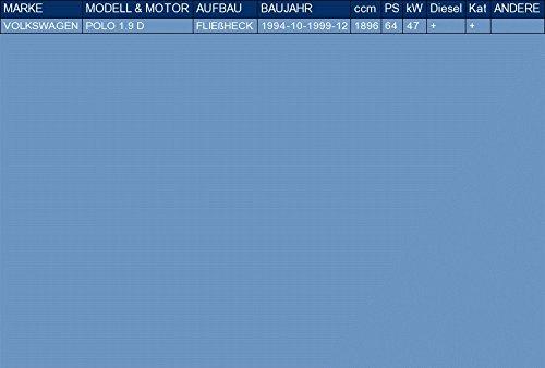 pour POLO 1.9 D HATCHBACK 64hp 1994-1999 ETS-EXHAUST 51927 Silenziatore marmitta Centrale kit di montaggio