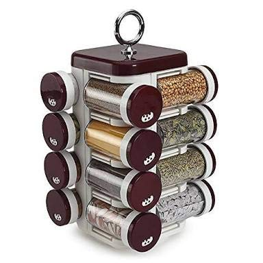 Buy Shreebajaar Home Kitchen Items Spice Dry Fruits Rack With 16 Containers Fancy Stable Attractive Home Decor Item Super Fine Quality Online At Low Prices In India Amazon In