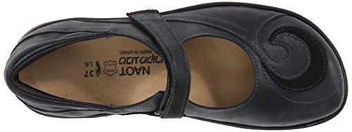 Naot Mary Suede Sea Black Shiny Jane black Flat Women's Leather rawUEBrq