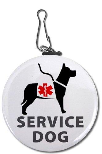 SERVICE DOG Image Medical Alert Symbol 2.25 inch Clip Tag, My Pet Supplies