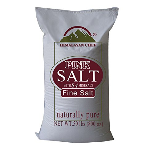 Himalayan Chef Natural Pure Himalayan Pink Salt, Fine Grain Salt, 50 Pound Sack, Pure Himalayan Salt in the World to Improve your Health. by Himalayan Chef