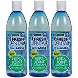 Naturel Promise Fresh Dental Hip & Joint Water Additive for Dogs and Cats, 18-Ounce (3 Pack)