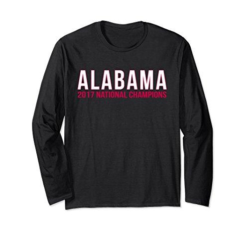 Unisex Alabama 2017 National Champions Shirt XL: Black
