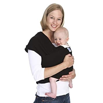 Moby Classic Baby Wrap Black Baby Wearing Wrap For Parents On The Go Baby Wrap Carrier For