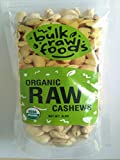 Premium Organic Raw Cashews 100% Natural Large Whole In 1 Pound Pack by BulkRawFoods Review