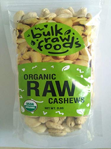 (Premium Organic Raw Cashews 1 Lbs 100% Natural Large Whole by BulkRawFoods)