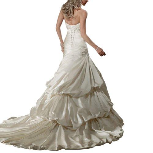 Hochzeitskleider up Luxus Satin Weiß BRIDE Zug Kapelle Designer Brautkleider GEORGE Pick xzW7XnREXO