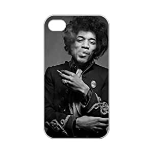 Custom Jimmy hendrix Case Cover Protector Compatible with iPhone 4 4S 100% TPU (Laser Technology)