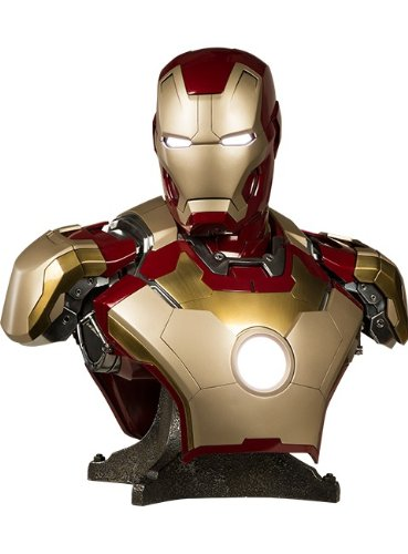 Iron Man Suits From Iron Man 3 (Marvel Iron Man 3 Life Size Iron Man Mark 42 1:1 Bust)