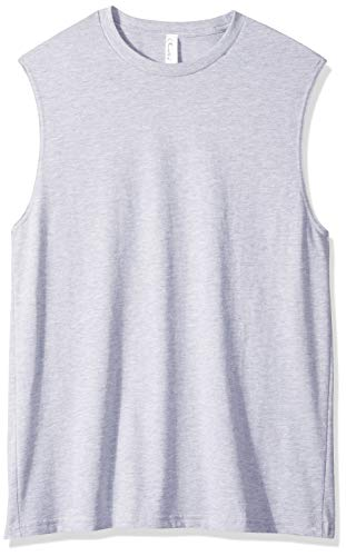 Clementine Mens Cotton Muscle T-Shirt, Heather Grey, 2X-Large
