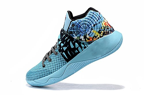 OEEN Kyrie 2 BHM EP Irving Black History Women's Fashion Basketball Shoes Blue Dazzle Color US5.5
