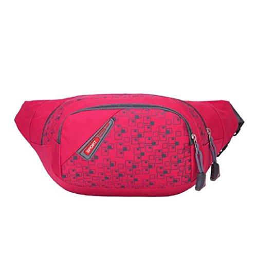 Price comparison product image Binmer(TM) Unisex Running Bum Bag Travel Handy Hiking Sport Fanny Pack Waist Bag Belt Zip Pouch (Hot Pink)