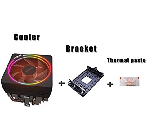 Amazon Com Amd Wraith Prism Led Rgb Cooler Fan From Ryzen 7 2700x Processor Am4 Am2 Am3 Am3 4 Pin Contact Heat Sink W Bracket Socket Retention Mounting Bracket For Hook Type Air Cooled W Thermal Paste Computers Accessories