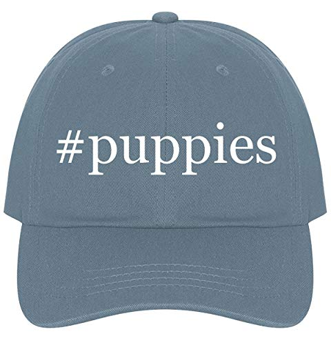 The Town Butler #Puppies - A Nice Comfortable Adjustable Hashtag Dad Hat Cap, Light Blue