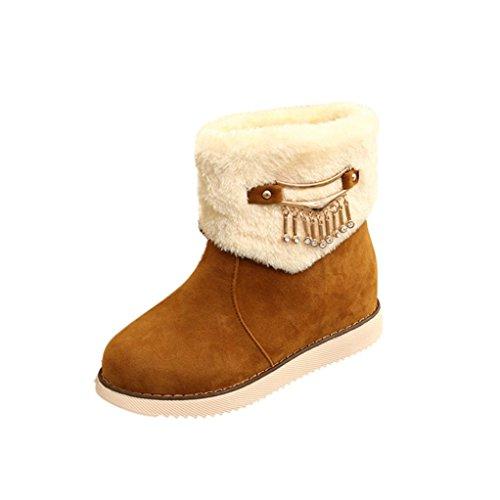 Dames Chaussures Mode Bottes Hiver De Jaune Neige Chaud Igemy zBawIq