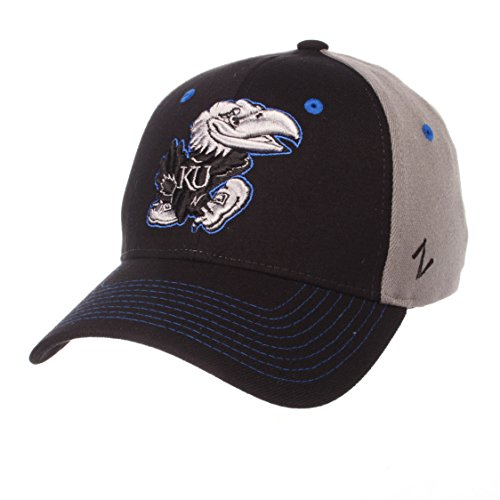 - Zephyr NCAA Kansas Jayhawks Men's Duo Hat, Medium/Large, Black/Gray