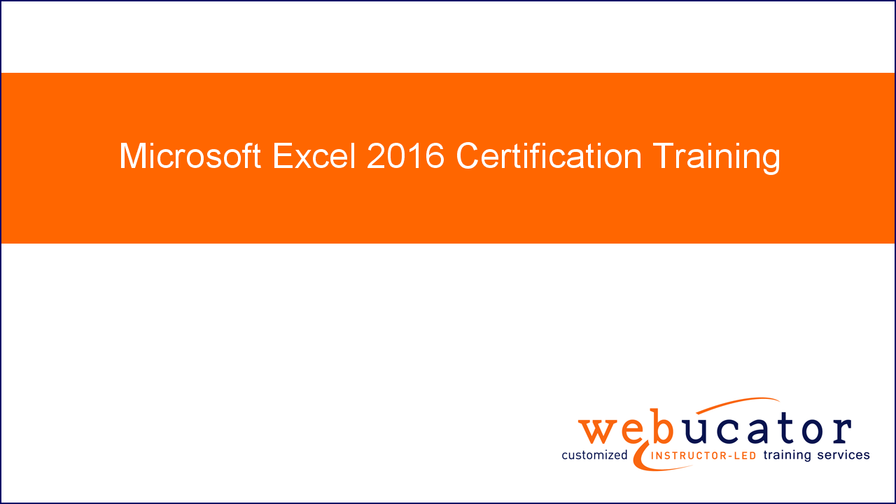 Microsoft Excel 2016 Mos Certification Training Online Code