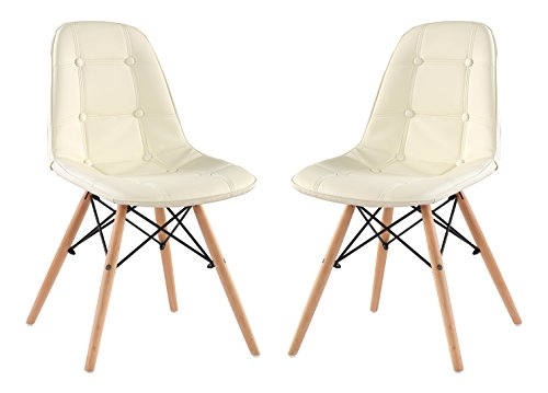 Classico Replica Eames Style Dining Chair - Beige (Pack of 2)