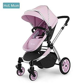 Hot Mom Multi cochecito cochecito 2 en 1 con buggy 2018 nuevo diseño - rosa: Amazon.es: Bebé