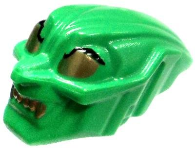 LEGO LOOSE Accessory Green Goblin Mask with Gold Eyes & Teet