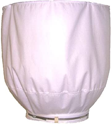AFF AFFTB1420X48 Custom Dust Collector Filter Bag 14-Inch > 20-Inch Diameter by 48-Inch Long Custom Dust Bag, Circular Close with Center Hanging Loop, White
