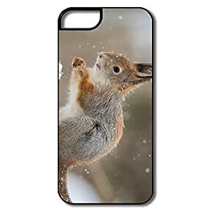 PTCY IPhone 5/5s Custom Geek Squirrel Snowfall