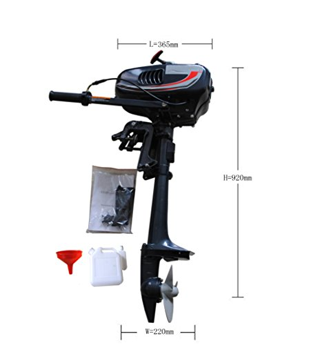 Sican 3.5HP Outboard Motor 2 Stroke Inflatable Fishing Boat - 15 Hp Boat Motor