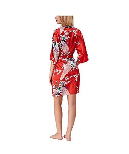 KF-Nlj Kimono Pijamas Pijamas De Seda Batas De Baño Señoras De Verano Sueltas De Gran Tamaño De Seda Delgadas Batas Casa: Amazon.es: Ropa y accesorios