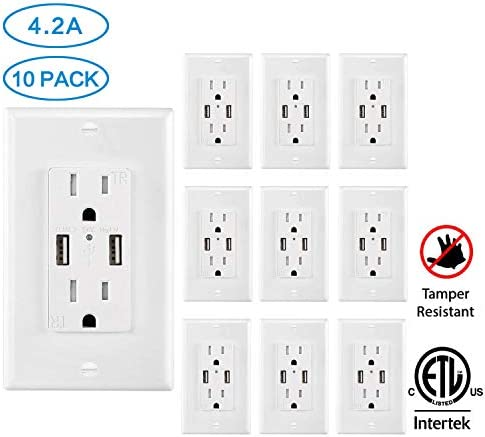 Outlet Charger Receptacle Resistant Faceplate product image