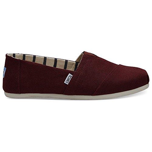 TOMS Men's Classics Black Cherry Heritage Canvas Slip On Shoes - Tom Men