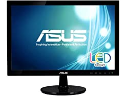 "Asus Vs197t-p 18.5"" Wxga 1366x768 Dvi Vga Back-lit Led Monitor"