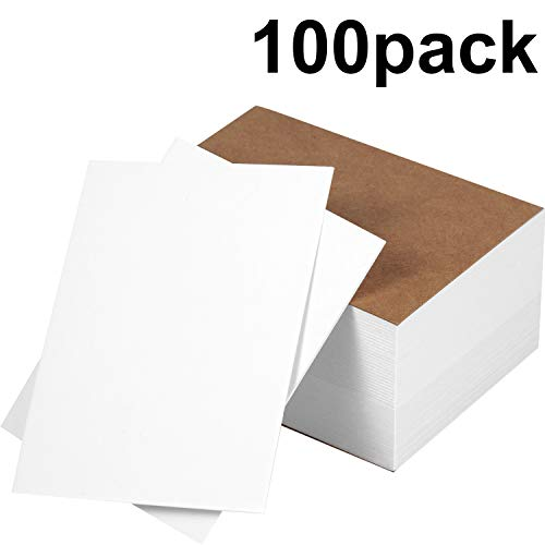 (Chinco 100 Pieces Blank Playing Cards Games Cards Index Card Note Cards for DIY Game School Office, 3 x 4 Inches)