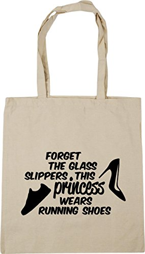 glass 42cm Natural wears Shopping litres Bag Tote HippoWarehouse Forget princess slippers Beach the 10 running this Gym x38cm shoes qwE6U