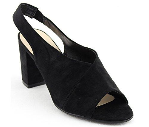 Block On Women's Nature Heel FG73 Suede Slip Chunky Sandals Mule Breeze Black RxqfqY