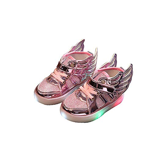edv0d2v266 Toddler Kids Skate Shoes Children Baby Shoes LED Light up Luminous Sneakers(Pink 31/13 M US Little Kid) by edv0d2v266