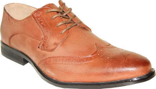 Coronado Mens Dress Shoe Milano-1 Classic Oxford Fashion Wing Tip Style Leather Lining Brown JVw9exjllo