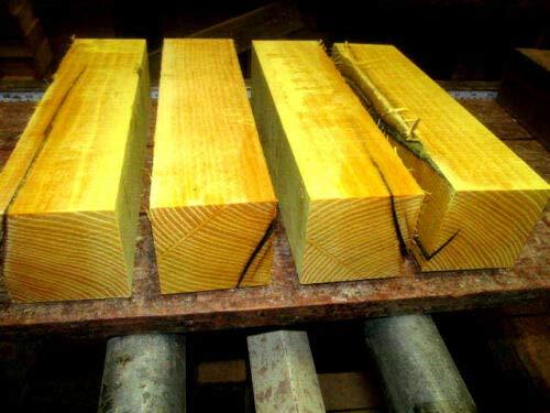 (Osage Orange Kiln Dried Lathe Turning Exotic Wood Bowl Blanks Blocks, 3