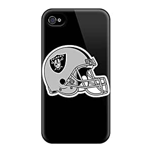 New Cute Funny Oakland Raiders 4 Case Cover/ Iphone 4/4s Case Cover