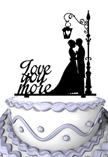 Meijiafei-Cursive-Love-You-More-Groom-and-Bride-Wedding-Cake-Topper-Silhouette