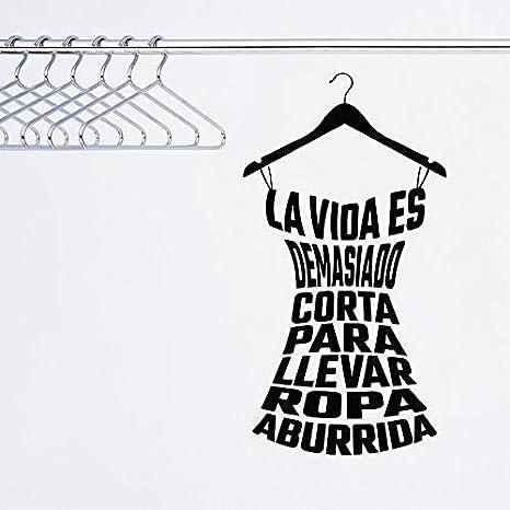 Ropa española cita calcomanías de vinilo etiqueta de la pared de ...