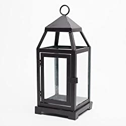 Richland Small Contemporary Metal Lantern Black Set of 6
