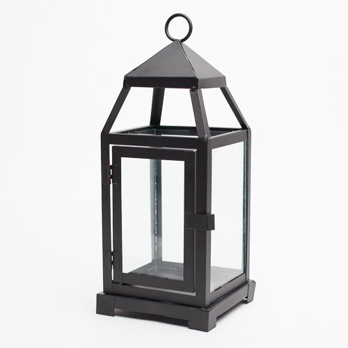(Richland Small Contemporary Metal Lantern Black)